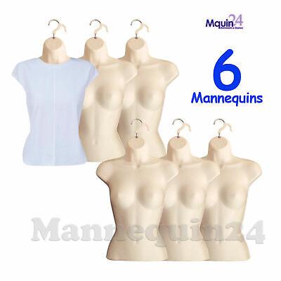 Flesh Mannequin Female Torsos - Lot Of 6 Pcs - Womens Hanging Dress Forms