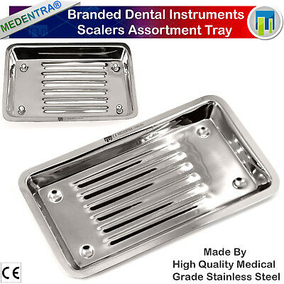 Dental Medical Scalers Tray Veterinary Set-up Dishtrays Surgical Instruments Ce