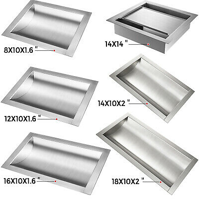 Stainless Steel Drop-in Deal Tray Brushed Finish 81216