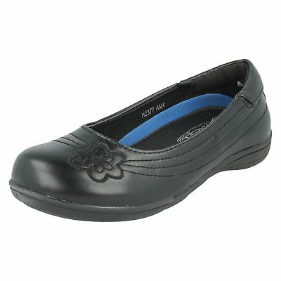 H2377- Gils Synthetic Spot On Slip On Black School Shoes- Great Price - Gils Shoes