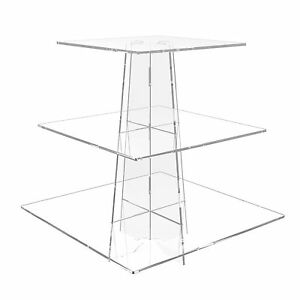 3 tier square wedding cake stands 3 tier cup cake stand wedding birthday cup cake acrylic 10265