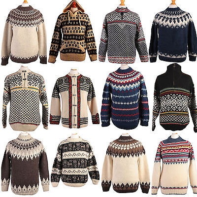 JOB LOT VINTAGE ICELANDIC STYLE JUMPER KNITWEAR WHOLESALE X10 PIECES GRADE A
