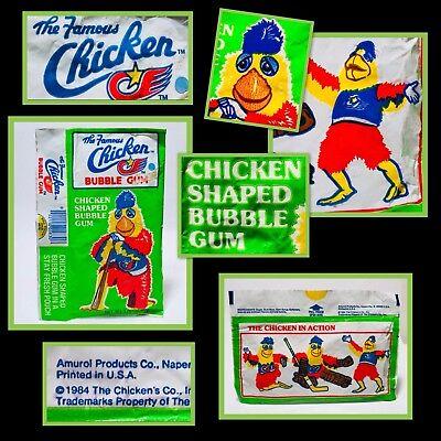 Vintage 1984 Amurol SAN DIEGO CHICKEN Bubble Gum Pouch candy container fleer