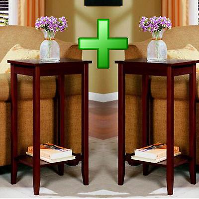 Set 2 End Inventory Living Room Coffee Nightstand Sofa Wood Home Furniture Storage