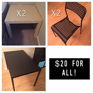 Everything for $20- IKEA Furniture - Priced to Sell