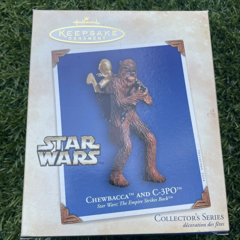 2004 Hallmark Keepsake Ornament Chewbacca and C-3PO Star Wars