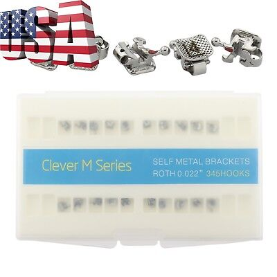 Dental Orthodontic Active Self Ligating Brackets Metal Braces Roth 022 345 Gac
