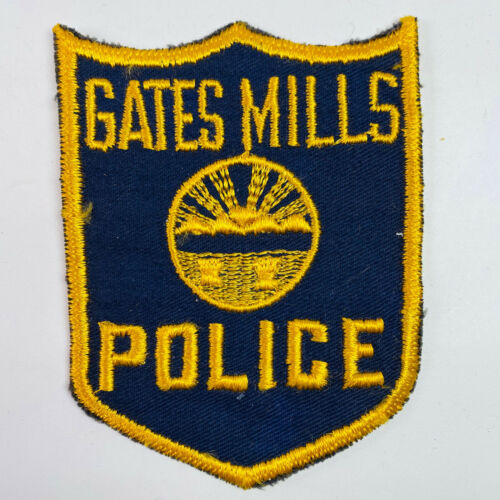 Gates Mills Police Cuyahoga County Ohio OH Patch (A3)