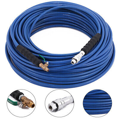 200ft Carpet Cleaning Solution Hose 14 Shut-off Valve Wand Cuff Wqdsv Newest