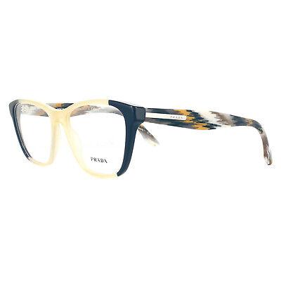 Prada Brillengestell PR04TV VYP1O1 Blau Gelb 54mm Damen