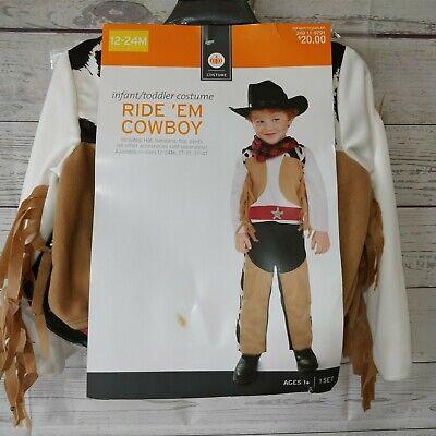 Baby Toddler Boy 12-24 month Ride 'Em Cowboy Costume Set Hat Bandanna Top Pants - Baby Boy Cowboy Kostüm