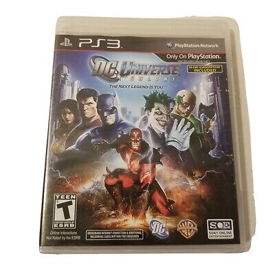 New DC UNIVERSE ONLINE game - Sony Playstation 3 PS3 - FACTORY SEALED Dc Universe Game