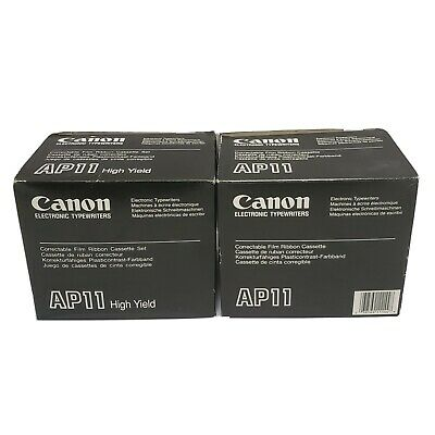 Lot 12 Canon Ap11oem Typewriter Ribbon Black Ap105 Ap250 Ap300 Ap400 Ap500 Ap600