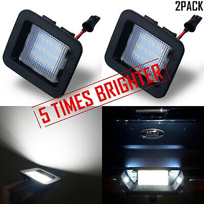 Xenon White LED License Plate Light Kit For 15-up Ford F-150 & Ford 17-up Raptor