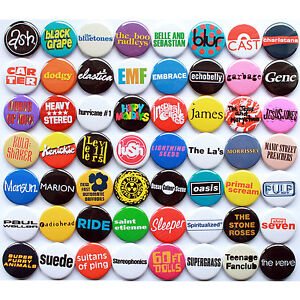 80s-90s-Indie-Britpop-Band-Collection-56-Quality-Pin-Button-Badges