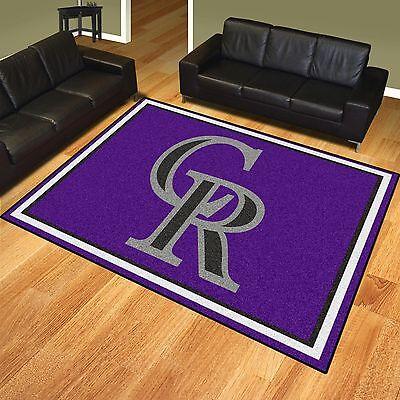 (Colorado Rockies 8' X 10' Decorative Ultra Plush Carpet Area Rug)