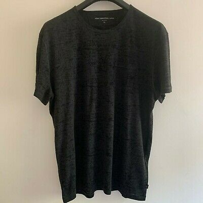 John Varvatos Mens Designer Black Pocket T-Shirt XL Extra Large