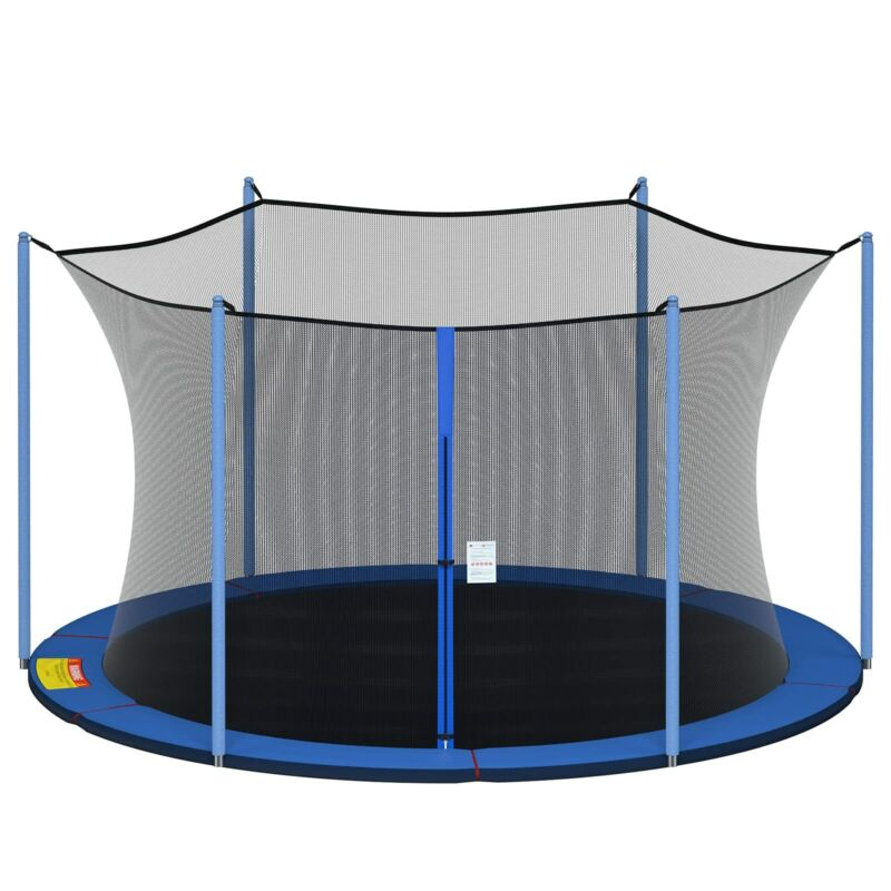 12/13/14/15FT Enclosure Net Trampoline Replacement Safety Net 3 Arch/6 Pole  US