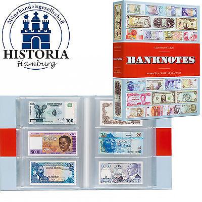 Leuchtturm Nr.347951 ALBUM BANKNOTES mit 100 Klarsichthüllen für 300 Banknoten