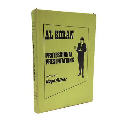 Al Koran Professional Presentations Edited by Hugh Miller Mentalism Magic