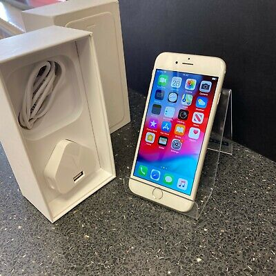 (SO4) Apple Iphone 6 64GB Network GIFF GAFF O2 boxed A1586 Silver