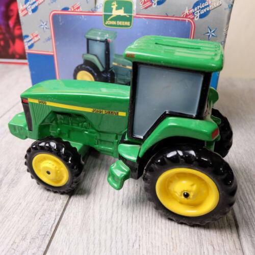 1998 Enesco John Deere 8400 Collectible Ceramic Savings Big Green Tractor Bank