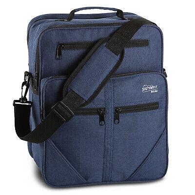 Flugumhänger SOUTHWEST Arbeitstasche Herrentasche Handgepäck Tasche Blau 15L