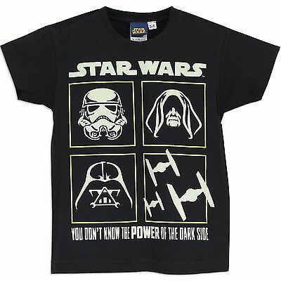 Boys Star Wars T-Shirt | Star Wars Tee | Star Wars Top | GLOWS IN THE DARK!
