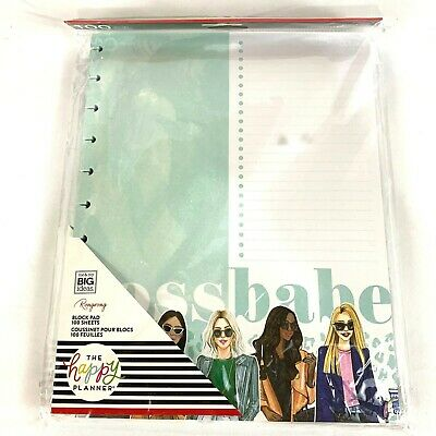 The Happy Planner Refill Paper 100 Sheets Block Pad Boss Babe Big 8.5x11