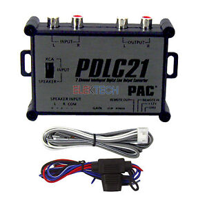 pac pdlc21 2 channel digital line output converter intelligent rca outs amp new