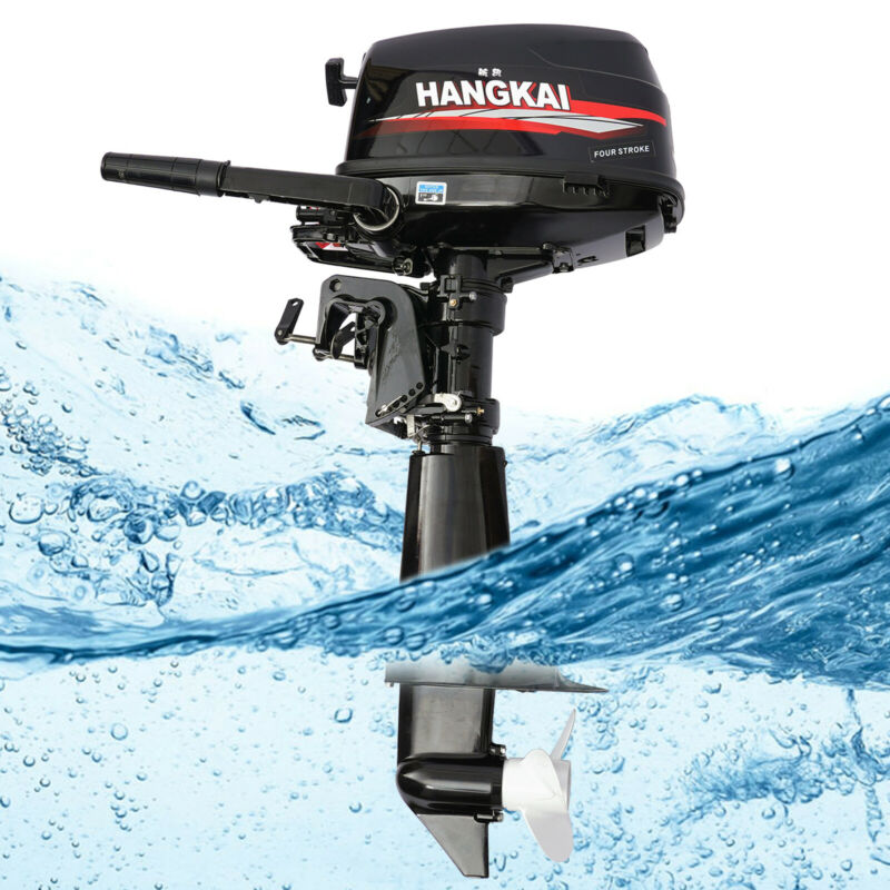 6.5HP 123CC Outboard Motor Inflatable Boat Engine Water Cooling 4-Stroke Good!
