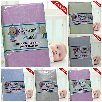 Pack Of 2 Jersey Fitted Sheet Fits Baby Crib,Cot,Junior Bed ,Moses,Next2 Me !!