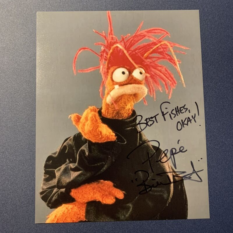 BILL BARRETTA SIGNED 8x10 PHOTO VOICE ACTOR AUTOGRAPHED PEPE THE MUPPETS COA