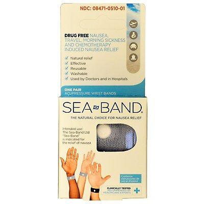 Sea-Band Acupressure Wrist Bands 1 Pair