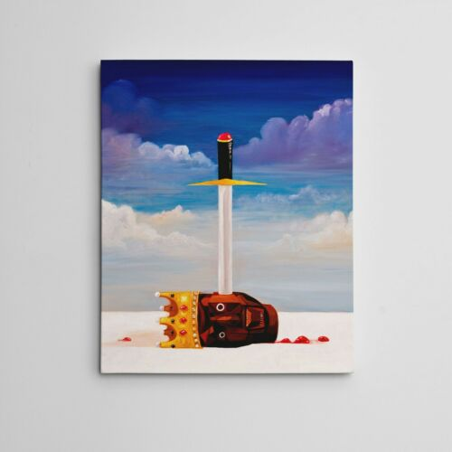 "16X20"" Gallery Art Canvas: Kanye West My Beautiful Dark Twisted Fantasy ""Power"""
