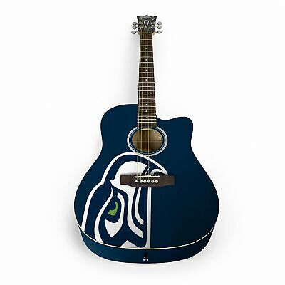Woodrow Seattle Seahawks Acoustic Guitar with Gigbag - ACNFL29