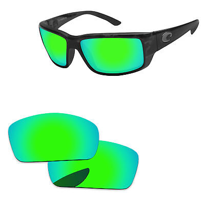 PapaViva Green Mirrored Polarized Replacement Lenses For-Costa Del Mar - Mirrored Lenses