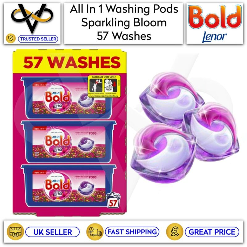 Bold All In 1 Pods Sparkling Bloom & Yellow Poppy Washing Capsules 57 Washes