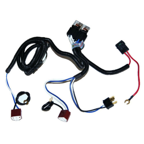 Ceramic H4 Headlight Relay Wiring Harness 2 Headlamp Light Bulb Socket  Plugs 7