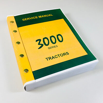 Service Manual For John Deere 3000 3010 3020 Tractor Technical Repair Shop