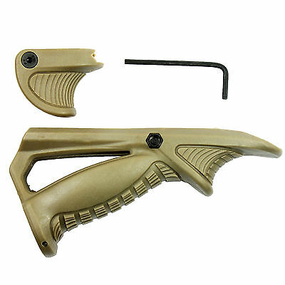 (Angled Foregrip Hand Guard with Thumb Lock for Picatinny/Weaver Rail - Tan)