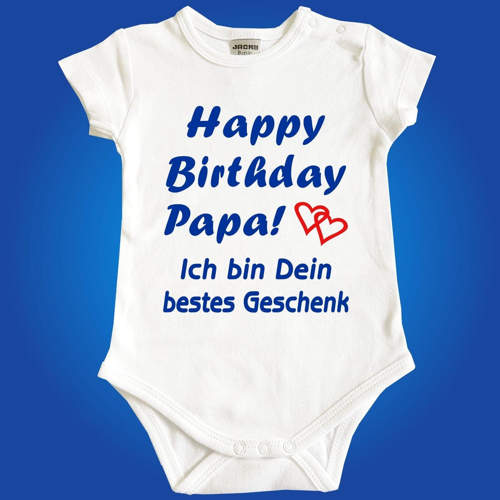Strampler Babybody Happy Birthday Papa Mama Oma Opa Onkel Tante - Babyparty Baby