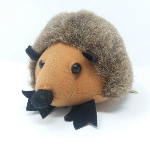 """BJ Toy Company Hedgehog 7"""" Plush Porcupine Rare  EUC Zipper Pocket"""