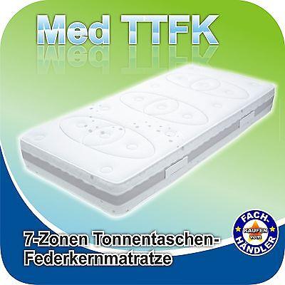 Luxus Tonnen-Taschen-Federkern-Matratze Med TTFK 90x200x25cm H3, Bezug waschbar