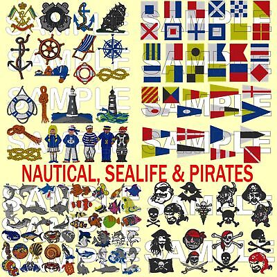 3 IN 1, NAUTICAL, SEA LIFE & PIRATES, PES EMBROIDERY MACHINE DESIGNS CD