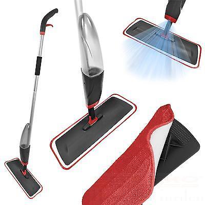 Wischer mit Wassertank Rot Grau Mopp Wischmopp Sprühmopp Sprühwischer Spray Mop