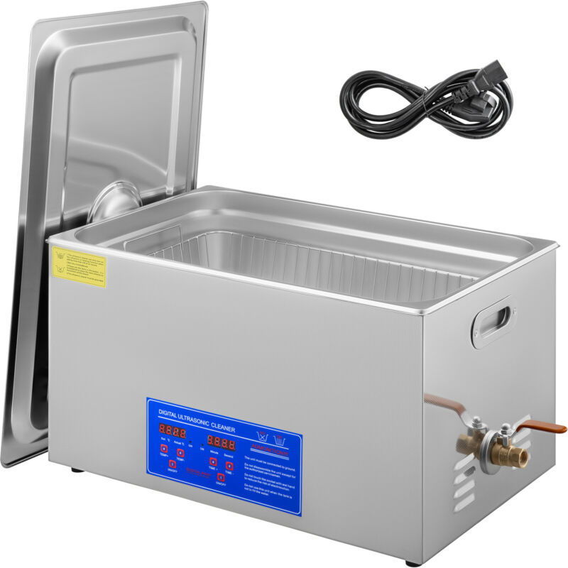 VEVOR New 30L Ultrasonic Cleaner Stainless Steel Industry Heated Heater w/Timer
