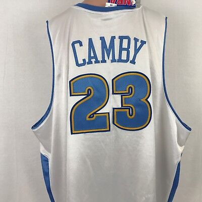 New Reebok Authentic Marcus Camby Denver Nuggets Jersey NBA Sewn Size 60 5XL