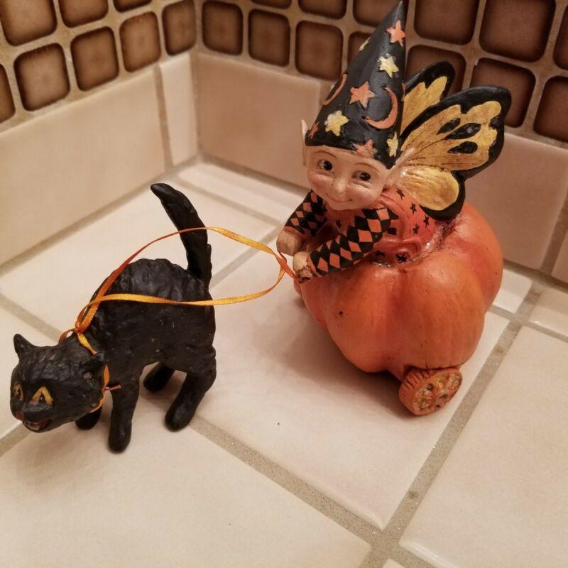 Mary Engelbreit Bethany Lowe Halloween Pumpkin Chariot