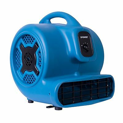 Xpower P-800 34 Hp Air Mover 3 Speed Commercial Carpet Dryer Floor Fan Blower